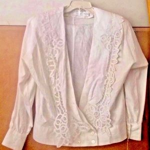 New Paperwhite Lace Jacket Hand Made NWT CRUISE